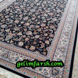 قیمت فرش 12 متری 700 شانه افشانک سرمه ای