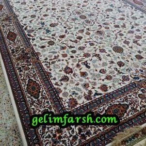 فرش ماشینی طرح افشان اصفهان کرم