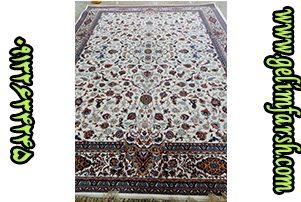 زیباترین فرش ماشینی طرح افشان اصفهان کرم