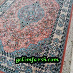 قیمت فرش ماشینی 1000 شانه طرح استانبول گلبهی