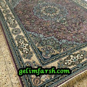 قیمت فرش ماشینی 1000 شانه طرح استانبول سوسنی