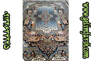 قیمت فرش ماشینی 1000 شانه طرح فرشته سرمه ای