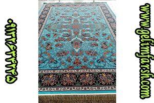 قیمت فرش ماشینی 1000 شانه طرح قاب بهشت آبی