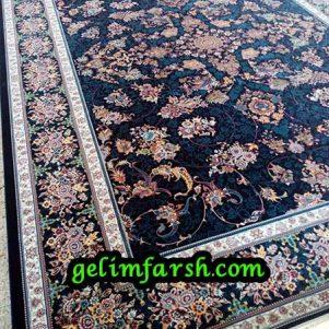 قیمت فرش ماشینی 1000 شانه طرح قاب بهشت سرمه ای