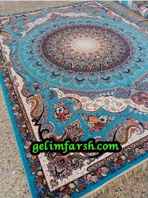 قیمت فرش ماشینی 1000 شانه طرح گنبد مینا آبی