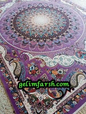 قیمت فرش ماشینی 1000 شانه طرح گنبد مینا سوسنی