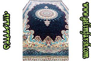 قیمت فرش ماشینی 1000 شانه طرح خورشید سرمه ای