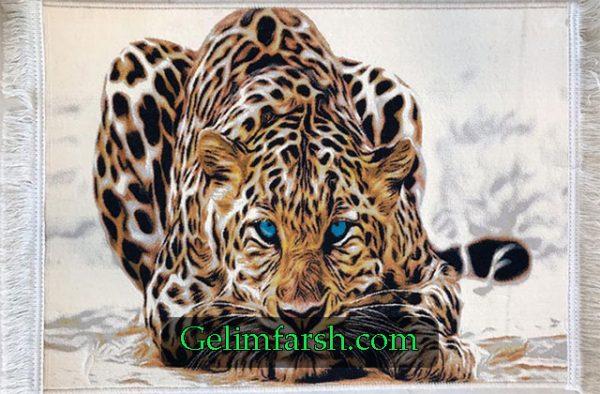 تابلو فرش حیوان پلنگ کد 6