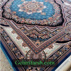 فرش ماشینی کاشان طرح بهشت کاربنی
