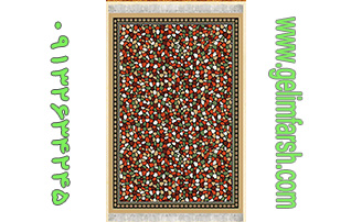 گلیم فرش طرح آنتیک بادامی کد 148