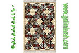 گلیم فرش نگین بادامی کد 199
