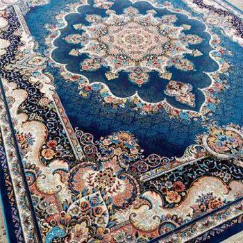 فرش ماشینی 700 شانه نیلی آبی