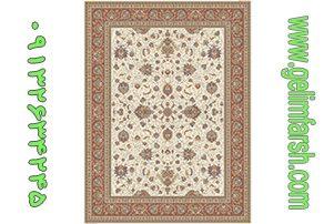 فرش گل برجسته افشان سنتی کرم 700 شانه