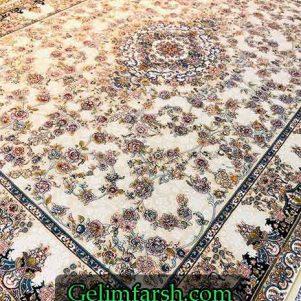 فرش گل برجسته طرح آنیسا صدفی 700 شانه