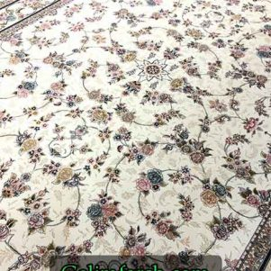 فرش گل برجسته گیلدا کرم 700 شانه