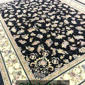 فرش گل برجسته گیلدا سرمه ای 700 شانه
