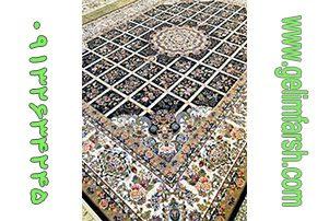 فرش گل برجسته گلسا سرمه ای 700 شانه