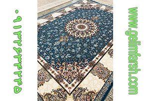 فرش گل برجسته ماهور آبی کاربنی 700 شانه