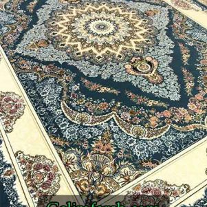 فرش گل برجسته صنم آبی 700 شانه
