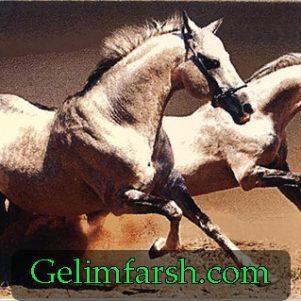 تابلو فرش ماشینی حیوان طرح اسب کد 90
