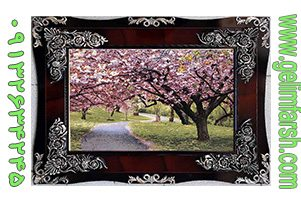 تابلو فرش ماشینی طرح درخت شکوفه کد 64