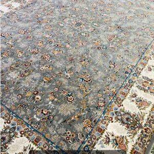 فرش ماشینی 1200 شانه افشان رزا طوسی
