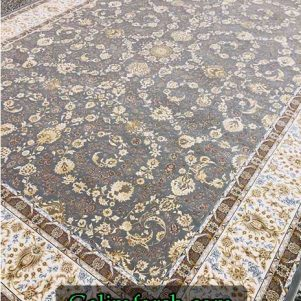 فرش ماشینی 700 شانه ماهرو طوسی