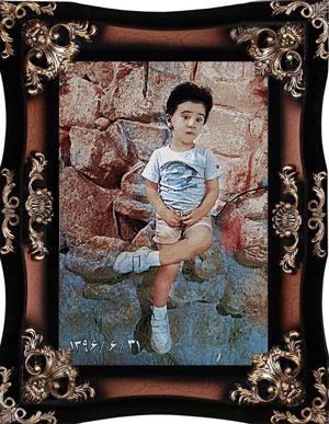 تابلو فرش چهره کودک کد 78