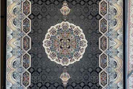 بهترین فرش ماشینی طرح هالیدی زغالی