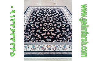 فرش ماشینی طرح گیلدا سرمه ای 700 شانه