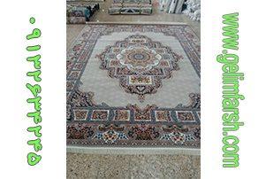 فرش ماشینی حوض نقره نقره ای